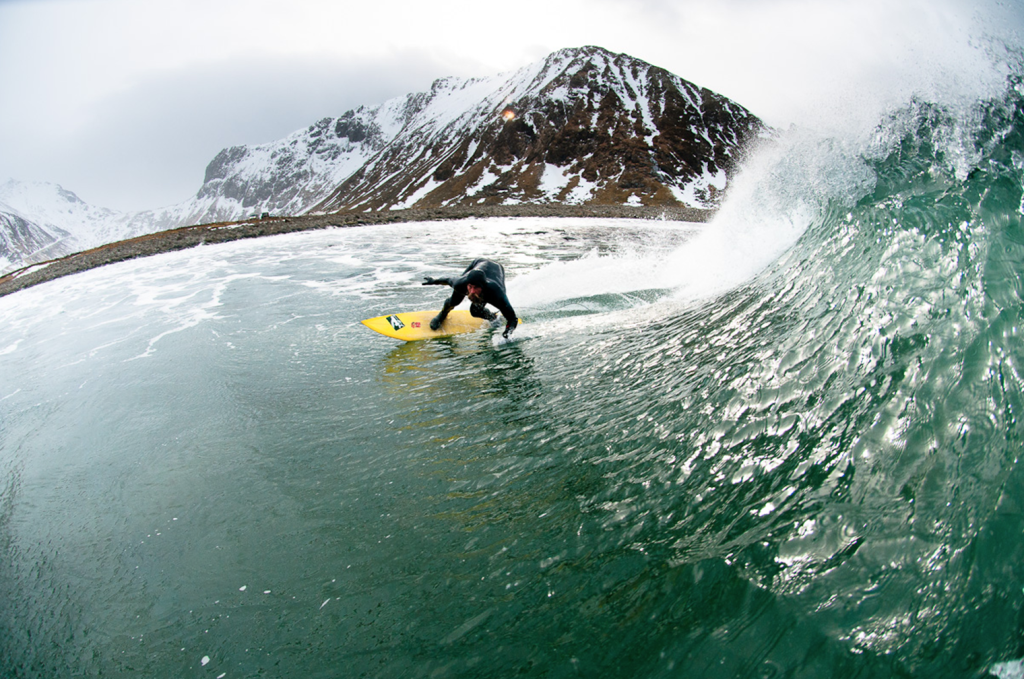 Arctic surfing in Norway